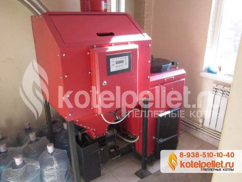 фото Наши объекты - Pelletnyiy kotel Roteks 15 Roteks 15 kVt Abinsk Krasnodarskiy kray 1